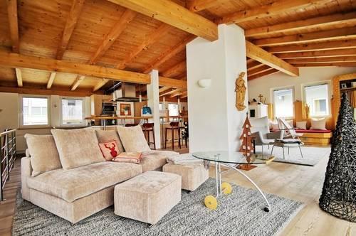 FREIZEITWOHNSITZ: Exklusive Maisonetten-Wohnung mit Dachterrasse in Obsteig in Tirol
