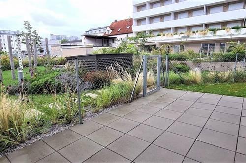 GARTENHIT! Klimatisierte 64 m2 Neubau mit 78 m2 Terrasse/Garten, 2 Zimmer, Kochnische, Duschbad, Parketten, Maximilianstraße