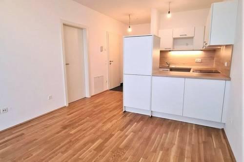 PÄRCHENHIT! Gepflegte 45 m2 Neubau inklusive 5 m2 Loggia, 2 Zimmer, Komplettküche, Duschbad, Parketten, Widerinstraße