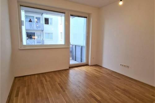 WIDERINSTRASSE! Gepflegte 45 m2 Neubau inklusive 5 m2 Loggia, 2 Zimmer, Komplettküche, Duschbad, Parketten, 1. Liftstock