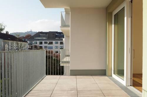 Toplage Urfahr! Erstbezug, ruhige 50 m² WNFL + 13 m² Terrasse, 2 Zimmer, unmöbliert, optional Garage od. Stellplatz! Top 3.8!