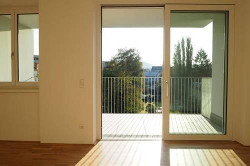 Toplage Urfahr! Erstbezug, ruhige 50 m² WNFL + 13 m² Terrasse, 2 Zimmer, unmöbliert, optional Garage od. Stellplatz! Top 4.11!