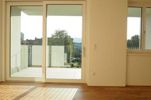 Toplage Urfahr! Erstbezug, ruhige 66 m² WNFL + 14 m² Terrasse, 3 Zimmer, unmöbliert, optional Garage od. Stellplatz! Top 4.13!