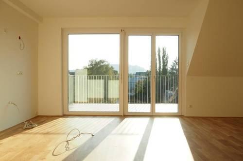 Toplage Urfahr! Neubau Erstbezug, DG-Maisonette 115,61 m² WNFL + 34,55 m² Terrassen, 4 Zimmer, unmöbliert, optional Garage od. Stellplatz! Top 5.15!