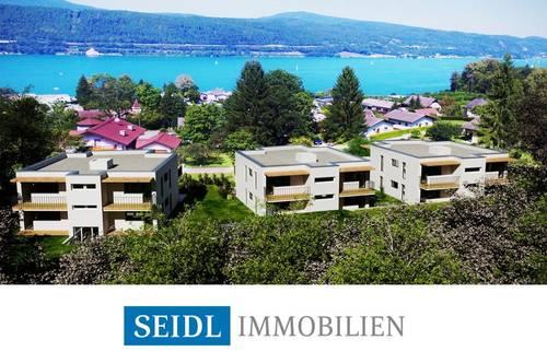 """""""AZURBLAU"""" - Seeblick-Gartenwohnung mit Bademöglichkeit"""