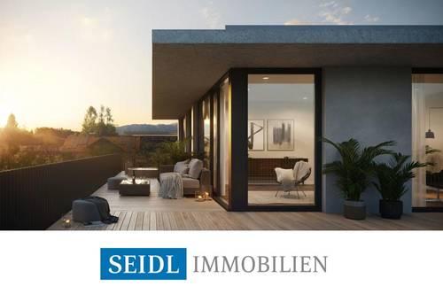 """TÜRKISBLAU"" - Seeblick-Penthouse mit Bademöglichkeit"