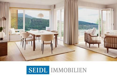 """""""AZURBLAU"""" - Neubauwohnung mit Seeblick und Bademöglichkeit"""