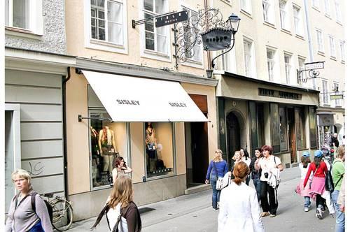 Top Lage! Schönes Geschäftslokal mitten in der Getreidegasse Salzburg Stadt