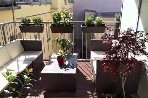 Wunderschöne helle 3 Zimmer Neubauwohnung mit Balkon, teilmöbliert, 83m², Garagenstellplatz