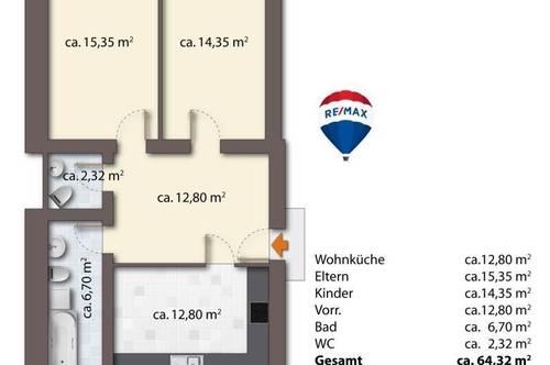 64 m² Wohnungen mit großem Garten in Spielfeld!!