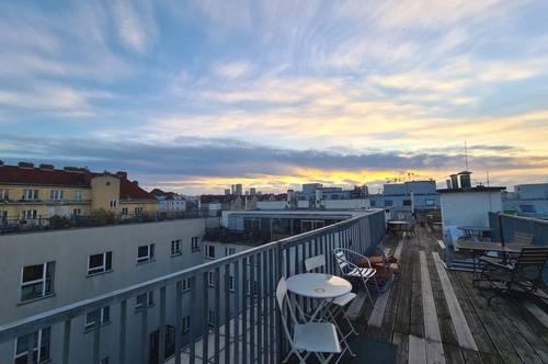 Außergewöhnliche Single-Wohnung mit Dachterrassenmitbenutzung im Palais Siebenbrunn