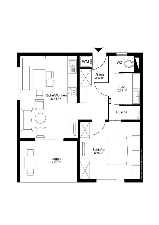 Grundriss_2-Zimmer_Wohnung