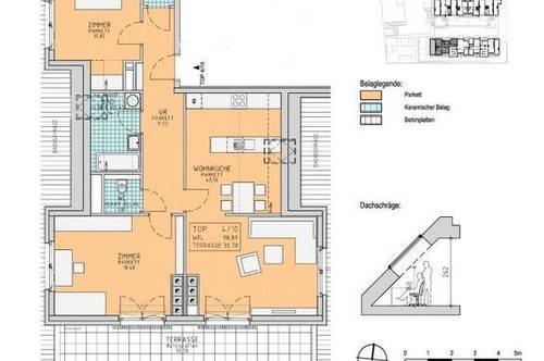 3 - Zimmer Wohnung mit Terrasse und Ruhelage in Pressbaum