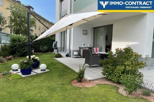 Moderne Stadtwohnung mit Terrasse und Garten