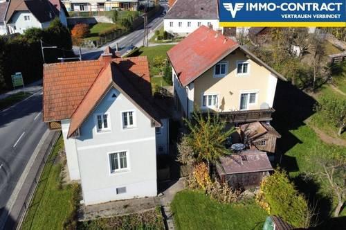 Zwei schöne Ein- oder Mehrfamilienhäuser mit viel Platz