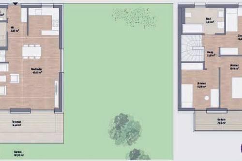 Herrliche Maisonetten-Wohnung mit Garten ...! Provisionsfrei!