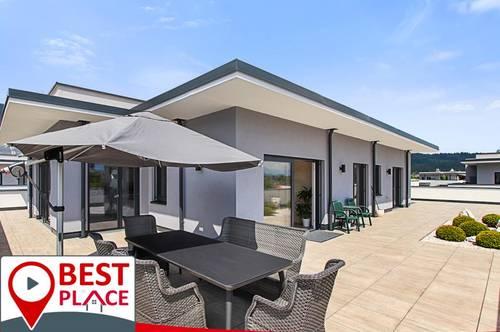 Penthouse mit atemberaubenden Karawankenblick und177 qm Terrasse