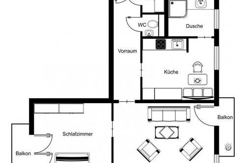 PRIVAT - NACHMIETER GESUCHT - gepflegte 56 m² Mietwohnung (2 Zimmer)