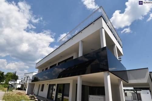 TRAUMHAFT! LEGENDÄRE Penthousewohnung: 130 m² Wohnung + Umlaufender Balkon + Dachterrasse! Hochwertige Ausstattung! Inkl. Garteneinheit + Carport + Keller! NICHT ZÖGERN!