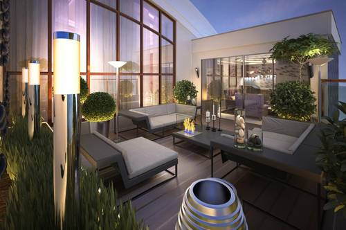 Ein 102,52 m² großes Penthouse mit einer 110,57 m² begrünten Dachterrasse und einem 31,26 m² großen Balkon - top Verkehrsanbindung - Bezirk Puntigam - PROVISIONSFREI!