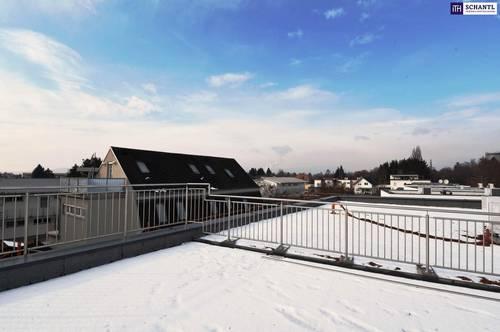 WOW-EFFEKT! LEGENDÄRE Penthousewohnung: 130 m² Wohnung + Umlaufender Balkon + Dachterrasse! Hochwertige Ausstattung! Inkl. Garteneinheit + Carport + Keller! NICHT ZÖGERN!