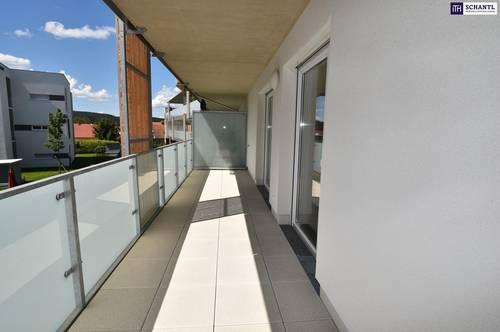 PERFEKT aufgeteilte 3-Zimmer Wohnung im Zentrum von Gleisdorf + Südausrichtung + Balkon + Tiefgarage! ERSTBEZUG in BESTLAGE!