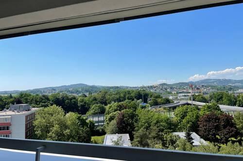 Sichern Sie sich diese großzügige 2-Zimmer Wohnung mit Loggia! Genialer Ausblick über Linz inklusive! Zentrale und dennoch grüne Lage! Provisionsfrei!
