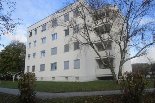 sonnige geräumige 2-Zimmer-Wohnung für Jung und alt in der sanierten Talwegsiedlung1, OG mit Balkon u. Lift