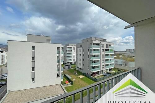 Schöne hofseitige 2 Zimmer-Neubauwohnung mit Loggia und Küche!