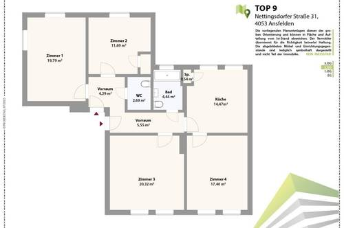 ANLEGEN & VORSORGEN: Vermietete 5 Zimmerwohnung in beliebter Wohnanlage in Nettingsdorf