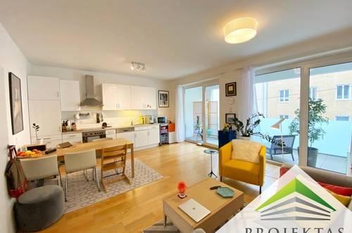 Moderne 2 Zimmer-Wohnung mit Küche, Terrasse & Parkplatz am Fuße des Aubergs