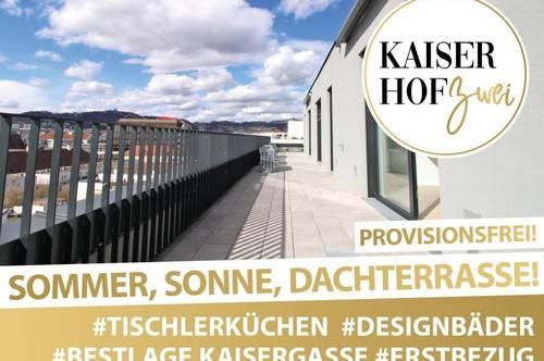 PENTHOUSE KAISERHOF 2   ALL-INCLUSIVE WOHNEN! 3 Zimmer mit großer Terrasse zum ERSTBEZUG - PROVISIONSFREI   360° Rundgang online!