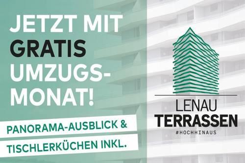360° Wohnungsrundgang online! LENAU TERRASSEN: Einzigartiges Panorama & 1. Monat gratis!