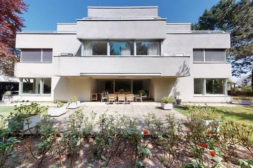 + Luxusdomizil in bester Grinzinger Lage mit traumhaftem Garten, Terrassen und Fernblick zu mieten!+