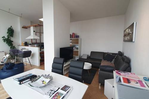 Salzburg Josefiau: Einzigartige, hübsche Penthouse-Wohnung, ca. 62 qm plus 17 qm Dachterrasse mit Lift und Tiefgarage in sonniger Ruhelage