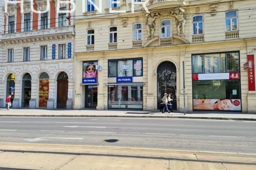 Sehr gut sichtbares Geschäftslokal mit großem Lager - Wiedner Hauptstraße