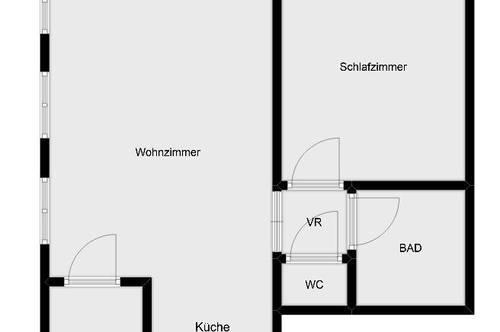 Nette 2 Zimmer Wohnung in der Nähe vom Schloss Eggenberg!