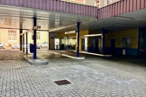 Roseggerstraße 16 / Werkstätte/Taxizentrale bzw. Autowaschplatz samt Büro zur sofortigen Vermietung!