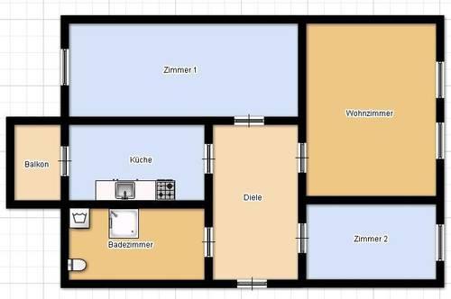 Frisch sanierte 3 Zimmer Wohnung in der Lagergasse