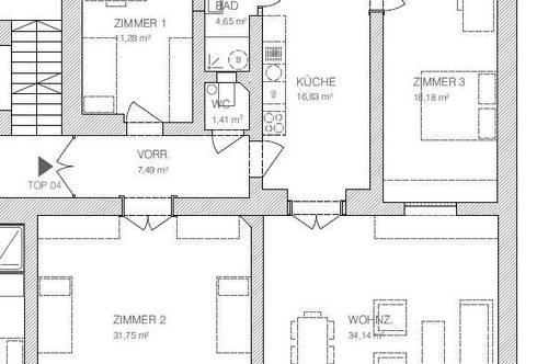 Sanierte Luxus Altbauwohnung mit 4 Zimmern in der Nähe vom Lendplatz!