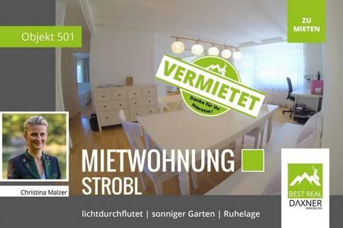 Vermietet! Attraktive Mietwohnung in ruhiger und sonniger Lage in Strobl!