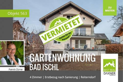 Vermietet! ERSTBEZUG nach Generalsanierung - 4 Zi.-Terrassen-/Gartenwohnung
