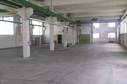 Büro & Produktionshalle mit Hallenkran