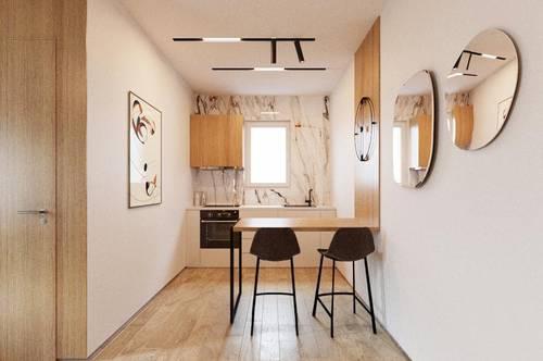ACHT STERNE - 2-ZIMMER-TERRASSENWOHNUNG mit 50 m²