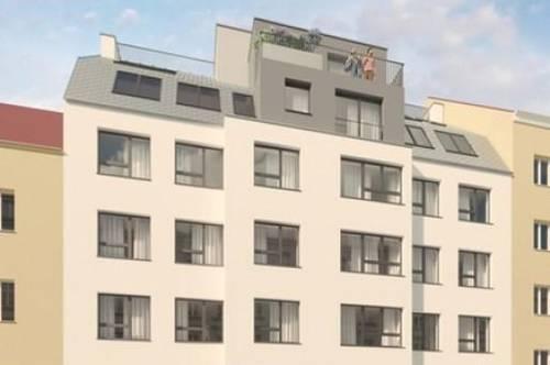 Investieren und Veranlagen in reale Werte: 2 Zimmer Erstbezugswohnung mit 60,15m² Wohnfläche und Loggia, Terrasse und Balkon in aufstrebender Lage des 12. Bezirks