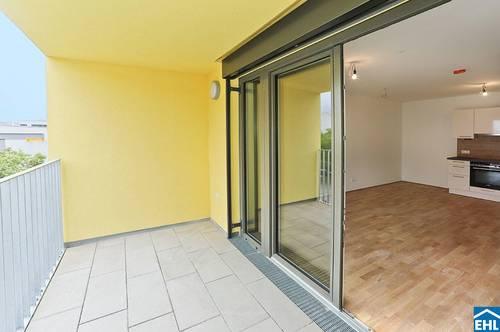 Perfekt angebundener Erstbezug - energieeffiziente 3 Zimmerwohnung mit Freifläche