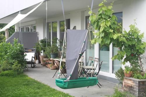 4 Zi. EG-Wohnung mit großem Eigengarten, Sonnenterrasse, 2 Tiefgaragenplätze, Lift und Kellerraum - Mondsee-Schlössl