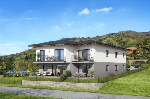 """""""Haus im Haus"""" 4 Zi. Gartenmaisonette zwischen Mondsee und Attersee - ca. 99 m² Wfl. -Terrasse -Balkon -Eigengarten - PROVISIONSFREI - BAUBEGINN ERFOLGT"""