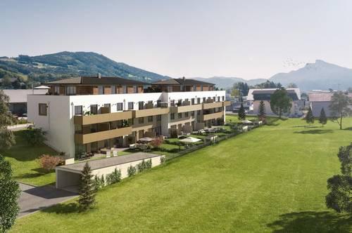 COOLE LAGE zwischen Mondsee und Irrsee - ERSTBEZUG 90 m² - 4 Zi. Gartenmaisonette 2 Geschosse, Garten, Keller, Tiefgarage ! ! ! KEINE KÄUFERPROVISION ! ! !