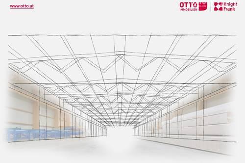 Industriehalle mit Flugdach